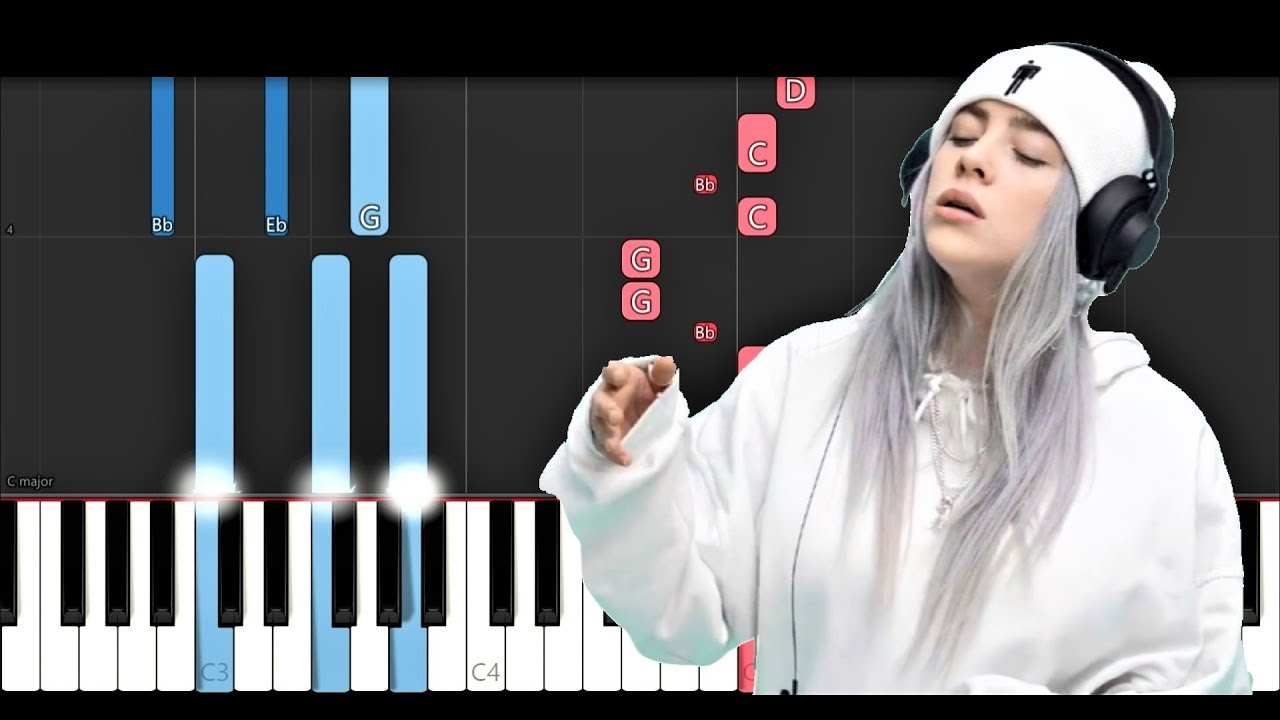 billie eilish love piano tutorial youtube