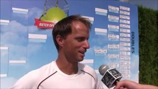 Jaroslav Pospíšil po prohře ve čtvrtfinále deblu na turnaji Futures v Pardubicích