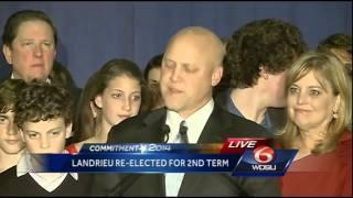 Landrieu delivers his victory speech