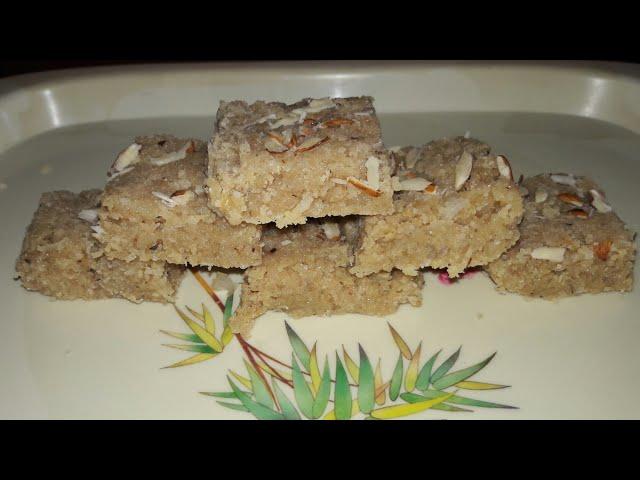 Khoya nariyal barfi recipe in Hindi