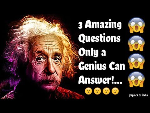 ✅ 3 Simple and amazing Questions Only a Genius Can Answer-Intelligence Test (IQ) | part-1