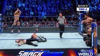 AJ styles Daniel Bryan vs Rusev Aiden English In Hindi SmackDown LIVE.mp4