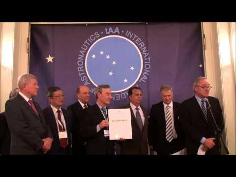 IAA 2012 Von Karman Award - Mr Dordain - 30Sept2012 Naples