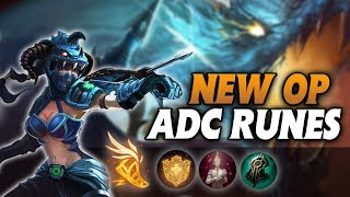 The NEW OP BEST ADC Rune Page from Korean Challenger (Crazy Lifesteal)