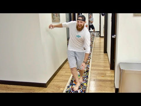 World's Longest LEGO Walk | Dude Perfect: Ty braves over 140 feet of LEGOS... barefoot! ► Click HERE to subscribe to Dude Perfect! http://bit.ly/SubDudePerfect   ► Click HERE to watch our most recent videos! http://bit.ly/NewestDudePerfectVideos http://bit.ly/NewestDPVideos  ► SHOP our NEW Merchandise! - http://bit.ly/DPStore ►Click HERE to join the exclusive Dude Perfect T-Shirt Club! http://bit.ly/DPTShirtClub  Support our new band - The Cheese Weasels! ►Click HERE to get