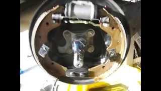 1999 Ford Festiva WF Brake Shoes & Wheel cylinder renewal