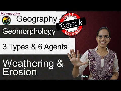 Weathering & Erosion - 3 Types and 6 Agents