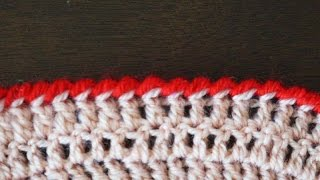 "Обвязка края ""рачий шаг"" (классический) / Reverse single crochet"