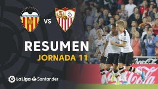 Resumen de Valencia CF vs Sevilla FC (1-1)