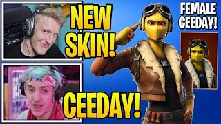 "Streamers React To *NEW* ""FEMALE RAPTOR"" SKIN in Fortnite (NEW…"