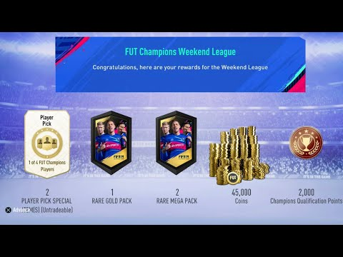 Gold 2 FUT Champions Weekend League Rewards | WALKOUT | FIFA 19 Ultimate  Team