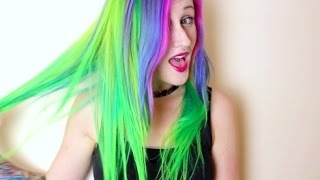 Lime Twist Hair Extensions -  Dye & Glue Job