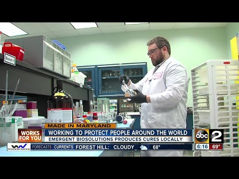 Producing cures, Emergent BioSolutions works to protect people around the world