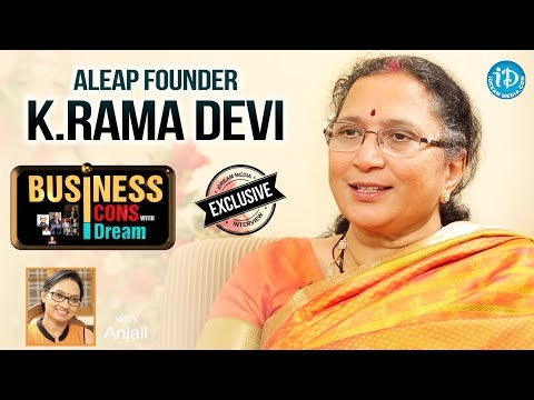 ALEAP Founder K Ramadevi Exclusive Interview || Business Icons With iDream #2 || #498