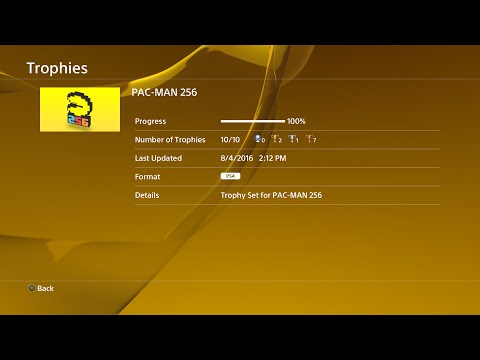 PAC-MAN 256 100% Trophies! (PS4)