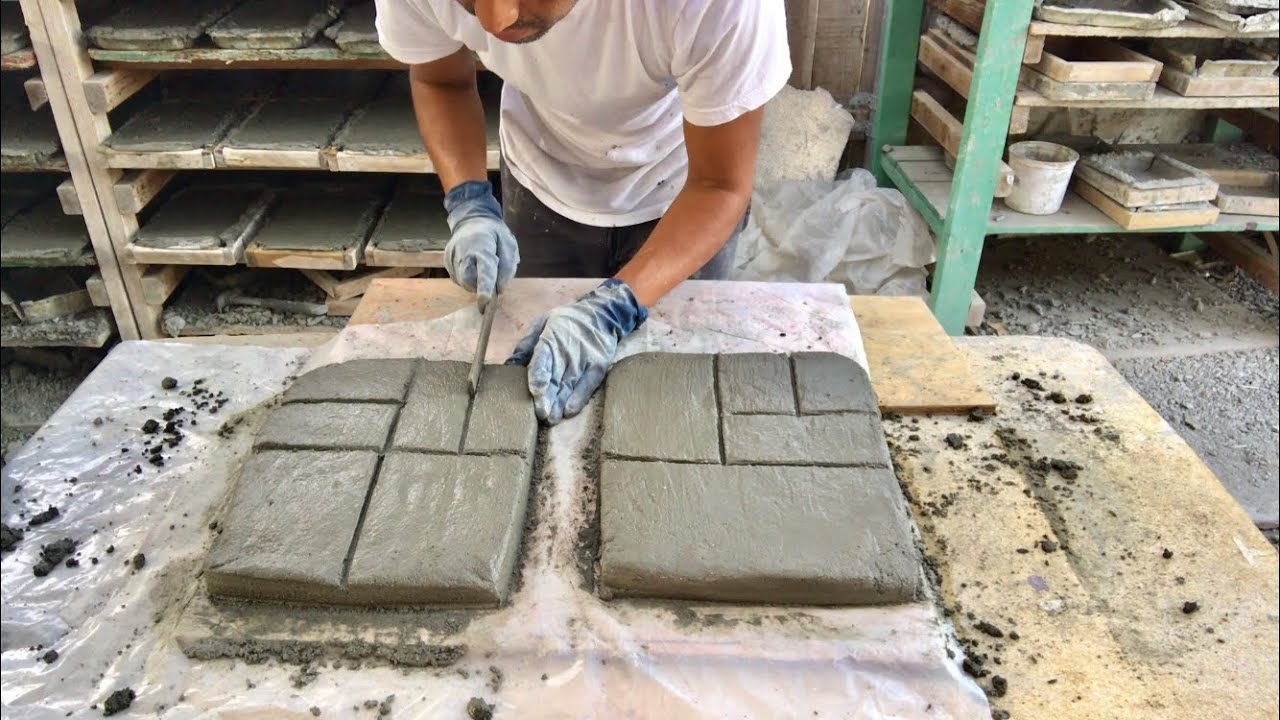 COMO HACER ADOQUINES DE LUJO SIN NINGUN TIPO DE  MOLDE / making pavers stepping stones