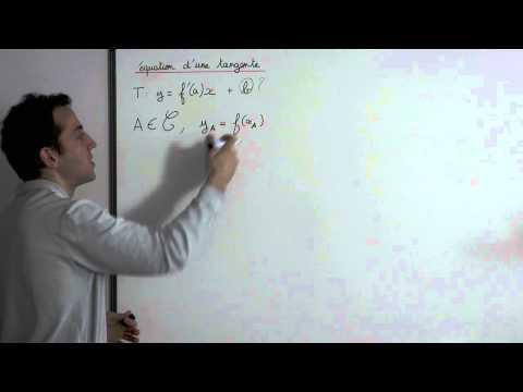 Comment calculer l'équation d'une tangente ?