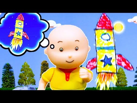 🚀-caillou-goes-to-space-🌟-|-funny-animated-kids-show-|-caillou-stop-motion