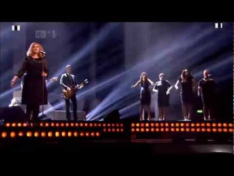 Adele performing Rolling In The Deep | BRIT Awards 2012