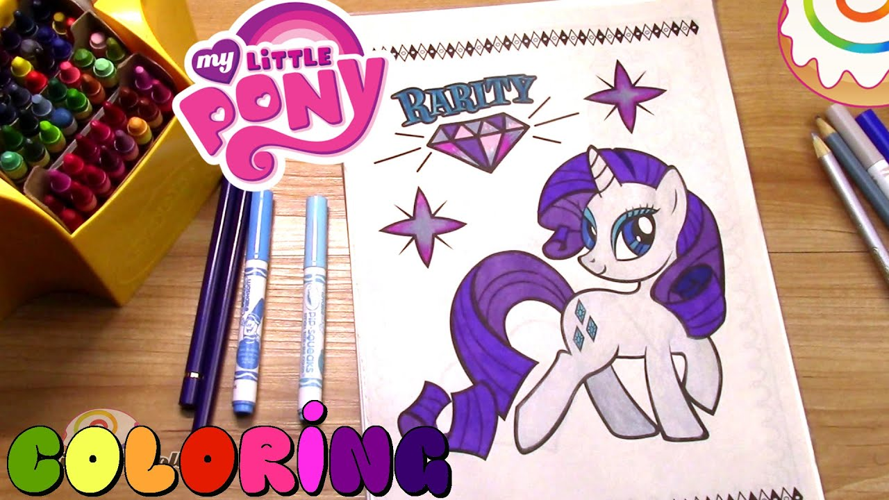 My little pony coloring pages of rarity