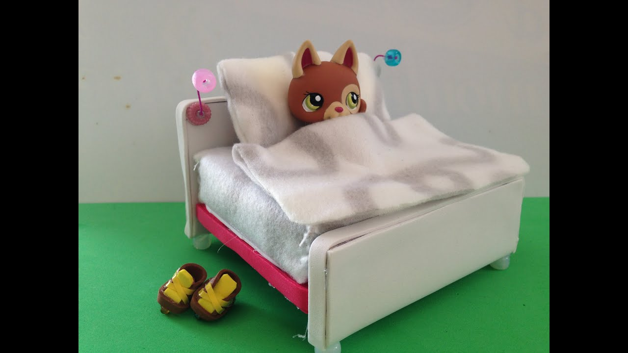 how to make a lps bed lps accessories youtube