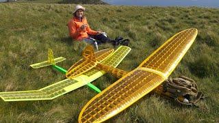 Goldberg Sailplane glider conversion in bumpy conditions.