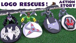 Avengers and Spiderman Villain Logo Story Play Doh Thomas and Friends Hulk Iron Man Star Wars