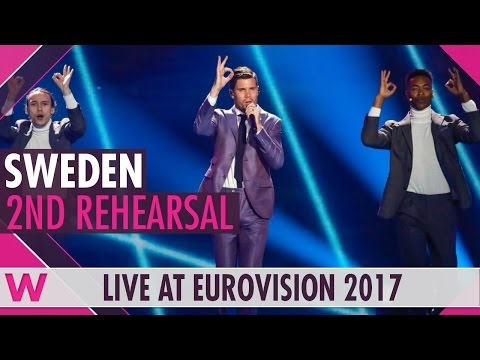 """Second rehearsal: Robin Bengtsson """"I Can't Go On"""" (Sweden) Eurovision 2017 
