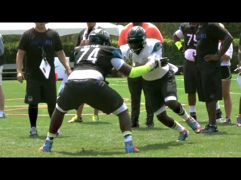 No.1 OL recruit Greg Little shuts downs the competition at NIKE The Opening