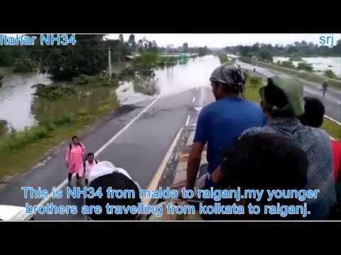 Raiganj Flood Part 7 Itahar NH34 ll Kulik River ll Raigan ll North Dinajpur