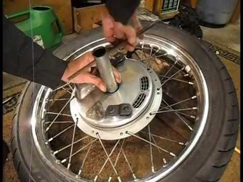 front brake shoes and cable conical hub pt1