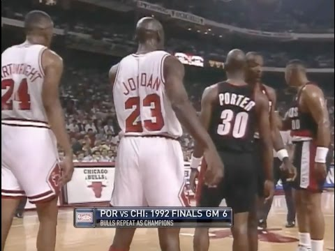 Michael Jordan shuts down Terry Porter  1992 NBA Finals