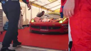 #61 Ferrari 458 Italia GT2 leaving the paddock - 2012 12 Hours of Sebring