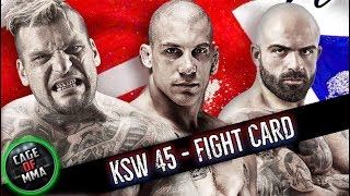 KSW 45 - Fight Card