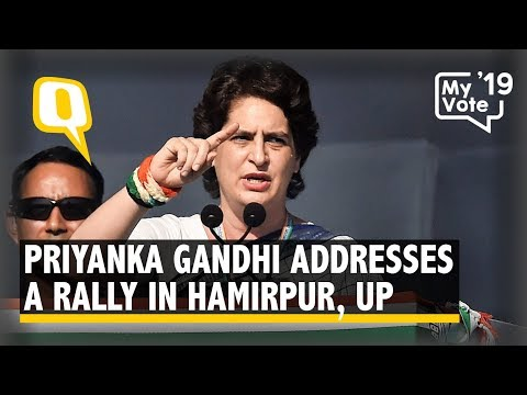 Priyanka Gandhi Addresses a Rally in Hamirpur, UP