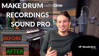 How to get pro-sounding Drums with Sample Layering #StudioOneMinute