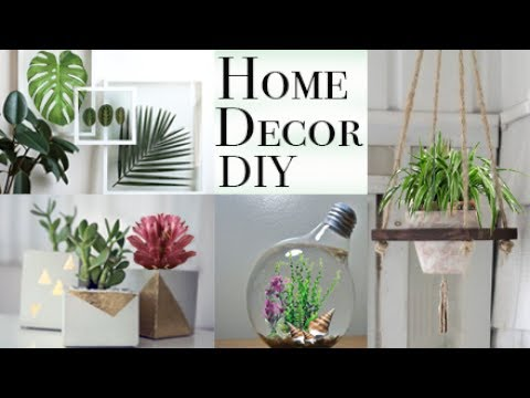 Home Decor Ideas 5 Easy Diy 39 S W Plants Youtube