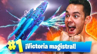 GANANDO con el MISIL DESPEGANDO de Fortnite: Battle Royale - TheGrefg