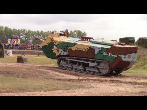 The Unusual Sound Of The Saint-Chamond Tank (restored French Heavy Tank From WW1)