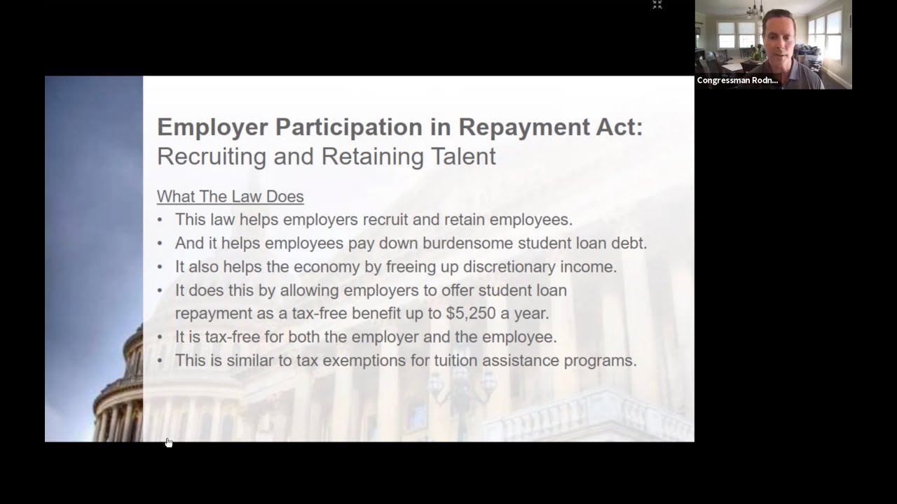 U.S. Rep. Rodney Davis Discusses Student Loan Repayment Benefits for Employers
