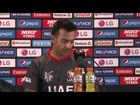 India v United Arab Emirates Post Match PC, Mohammad Tauqir, UAE