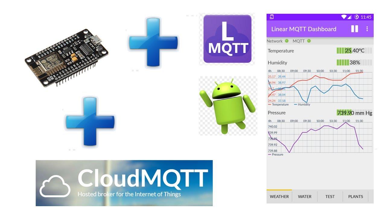 Tutorial #12 ESP8266 (Parte2) - MQTT + CloudMQTT + App de Android LinearMQTT