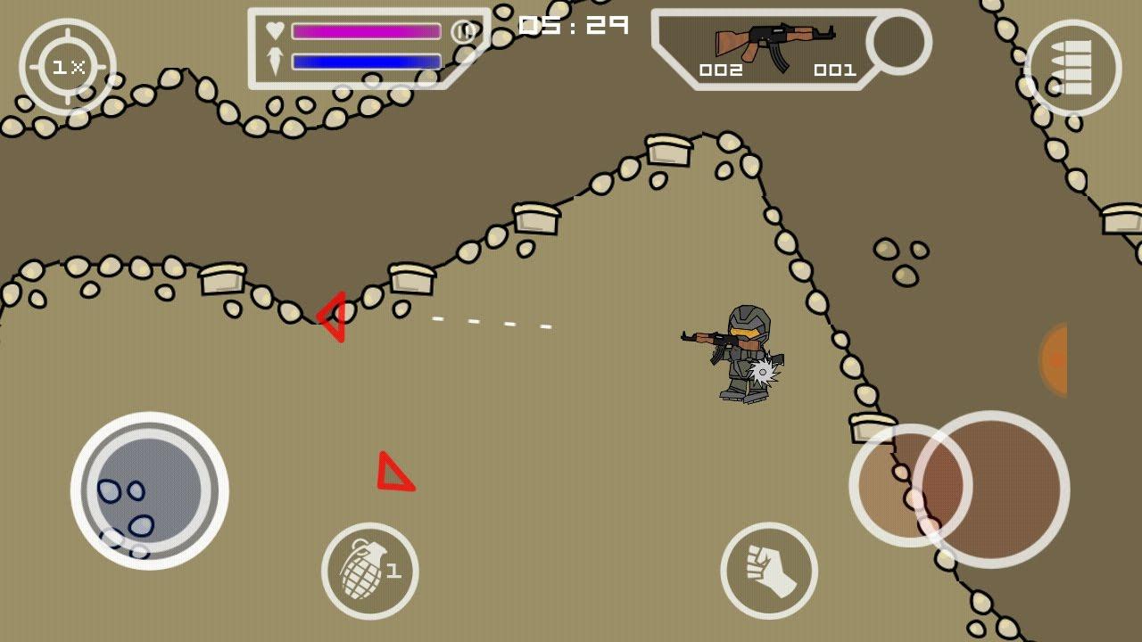 mini militia hacked version game download