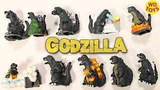 New 10 Godzilla Yubi's Fingerines Surprise Bags 1954,1995, 2001, 2004 Godzilla's Unboxing Jurassic