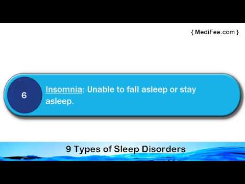 Top 9 Types of Sleep Disorders Most Common Ones