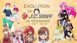 Evolution of J.C.Staff in Openings (1987-2018)