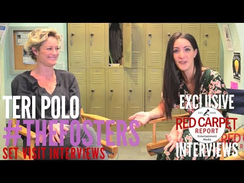 """Teri Polo interviewed on the set of Freeform's """"The Fosters"""" for Season 5 #TheFosters"""