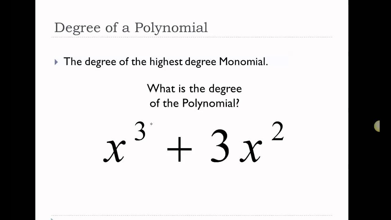 5 Minute Math: Degrees and Leading Coefficients of Polynomials ...