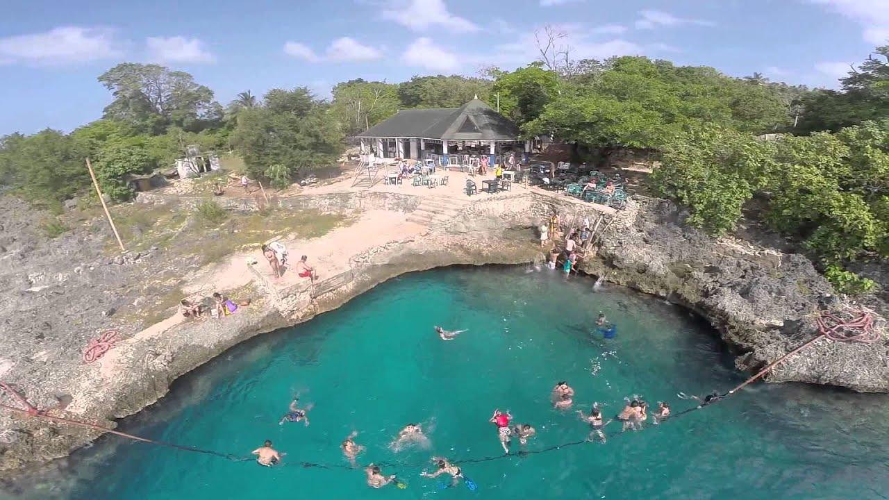 San Andres - La Piscinita aerial view - YouTube