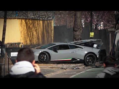 Lamborghini Huracan Performante CRASH In London